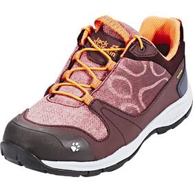 Jack Wolfskin Grivla Texapore Low Shoes Girls dark red